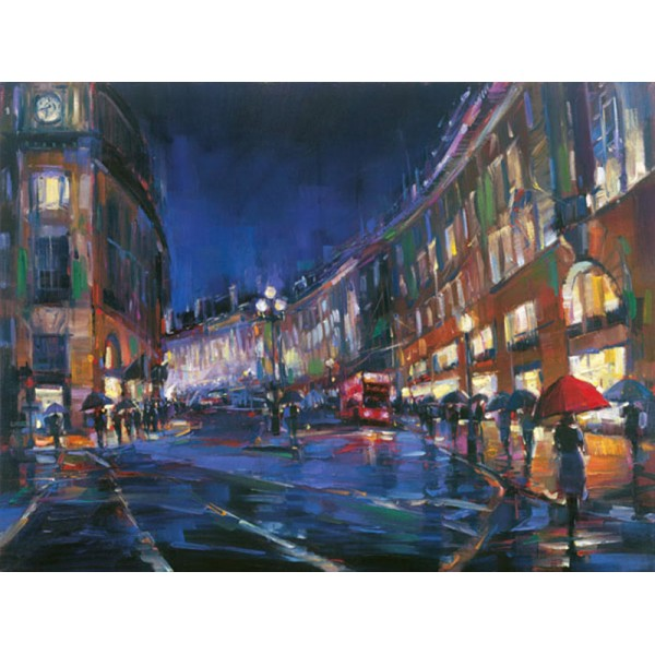 Michael Flohr - London Rain - AP Extra Hand-Embellished
