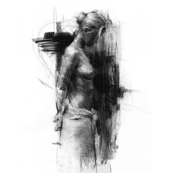 Henry Asencio - Morning`s Repose - Charcoal Drawing
