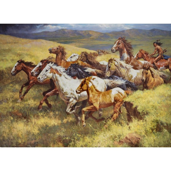 Howard Terpning - Thunder of the Wild Mustangs