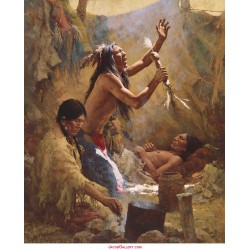 Howard Terpning - Medicine Man of the Cheyenne