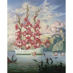 Vladimir Kush - Arrival of the Flower Ship