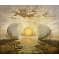 Vladimir Kush - Sunrise by the Ocean
